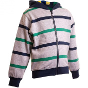 Younger Boys Striped Zip Though Hoody