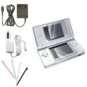 eForCity® Compatible With Nintendo DS LITE NDSL Accessary Bundle Car Charger + Home Charger + Screen Protector + Stylus