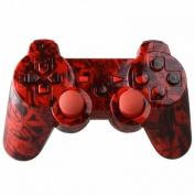 Hydro Dipped Full Set Red Skulls Housing / Shell For PS3 DualShock 3 Controller