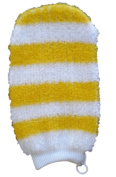 MAGIT Synthetic Bath Mitt, Striped