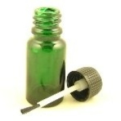 Glass Bottle Green Durham 10ml With Brush Cap