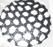 Twilo Design Hair Bun Net Ballet Dance Gymnastics Black Crochet
