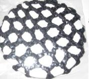 Twilo Design Hair Bun Net Ballet Dance Gymnastics Black Crochet