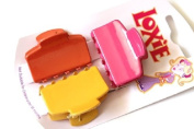 Girls Ladies Plastic Colourful Mini Hair Claw Clamp Clips Fashion Accessories