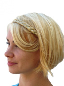 THIN OPEN ENDED CLIP-IN HAIR BRAID IN OUR UNIQUE LIGHT BLONDE MIX