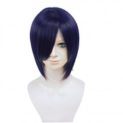 """Anime Wig 11.8"""" 30cm LOVE STAGE Ryoma Ichijo Blue Mixed Black Short Wig Full Hair Wig"""