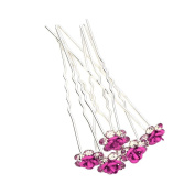 5/10/20/50pcs Crystal Rose Flower Wedding Party Prom Bridal Hair Pin Clips Multi-Colour