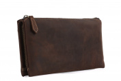 Zenness Small Mens Leather Coin Purse Cash Cards Business Clutch Handbag