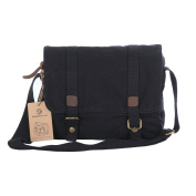Koolertron New Men Canvas+Leather Shoulder Bag Messenger Bag School Bag Purse