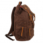Five Season Men's Vintage Canvas Backpack Rucksack school bag Satchel Hiking bag