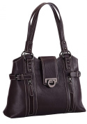 Phive Rivers Women Genuine Leather Handbag - SADDLES_PR-623