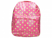 Camden Polka Dot Print Oil Cloth Women's School Bag Rucksack Backpack