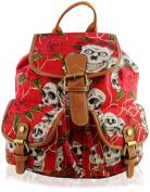 Yufashion Girl's Maple Skull & Rose backpack