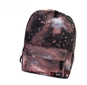 Gaorui Galaxy Pattern Unisex Travel Backpack Canvas Leisure School Rucksack Campus Bags