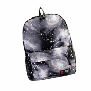 Gaorui Galaxy Pattern Unisex Travel Backpack Canvas Leisure School Rucksack Campus Bags