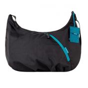 Crumpler Doozie Hobo M - Ladies Shoulder Bag - black / turquoise - DZH-M-004