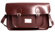 38cm Wine Red Backpack Real Leather Oxbridge Satchel IN-NEW 15 WINE RED BACKPACK - Fashion Retro School Bag - Boxed
