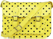 Ladies Designer Vintage Crossbody School iPad Polka Dots Spotty Satchel Handbag