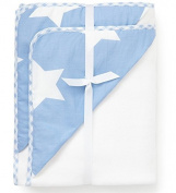 Pixie and Jack Hooded Towels White with Blue Stars Hood