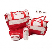 EBASE 5 Set of Dog Baby Nappy Bag Nappy Tote Shoulder Bags with changing Mat