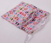 EBASE Owl + Cute Animal Super Soft Printing Baby Infant Cloth Nappy Nappy Wet Dry Bag Pouch