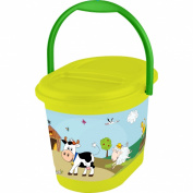 OKT Kids Funny Farm 11801274063 Nappy Bucket Grass Green