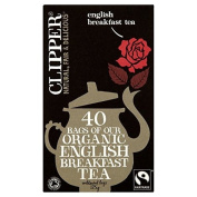 Clipper Fairtrade Organic Speciality English Breakfast Tea Bags 40 per pack