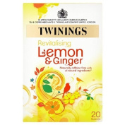 Twinings Revitalise Lemon & Ginger Herbal Tea Bags 20 per pack