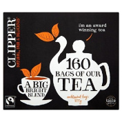 Clipper Tea Fairtrade Everyday Blend Tea Bags 160 per pack