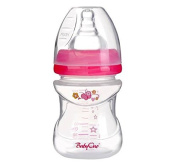 Anti Colic Baby First Feeding Bottle 4oz /120ml 0+ Slow Flow Wide Neck - PINK