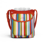 Built NY Three Bottle Tote Baby Pink Stripe