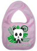 Dirty Fingers, Panda to my every need, Baby Cute Feeding Bib, Pale Pink