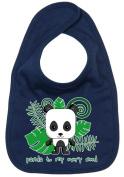 Dirty Fingers, Panda to my every need, Baby Cute Feeding Bib, Navy