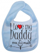IiE, I love my Daddy this much, Unisex Feeding Bib, Pale Blue