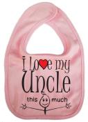 IiE, I love my Uncle this much, Unisex Feeding Bib, Pink