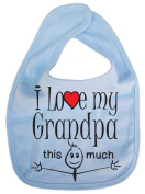 IiE, I love my Grandpa this much, Unisex Feeding Bib, Pale Blue
