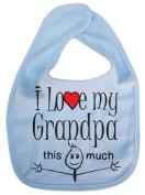 IiE, I love my Grandpa this much, Unisex Feeding Bib, Pale Blue