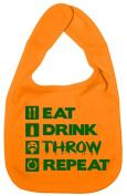 Dirty Fingers, Eat, Drink, Throw, Repeat, Boy Girl Feeding Bib, Yellow