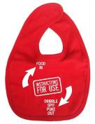 Dirty Fingers, Instructions for use, Boy Girl Feeding Bib, Red