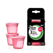 Tommee Tippee Essential Basics Food Pots x 3 3 per pack