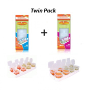 Happy Mummy 2 PACK Of Baby Cubes Food Cube Portioners Storage Pots-1 Box of Stage 1 (40ml) & 1 Box of Stage 2