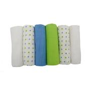 MuslinZ 6pk Premium High Quality Baby Muslin Squares Boys Combo 100% Cotton 70x70cms
