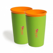 Wow Gear Spill-Free Wow Cup - Green Twin Pack