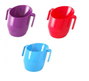 Doidy Cup Bundle - PURPLE & RED & BLUE - 3 Cups Supplied
