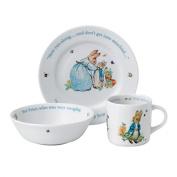 Wedgwood - Peter Rabbit Nursery Set Blue Boys 3 Piece Set - Perfect Kids Gift