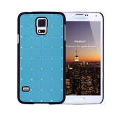 Exclusive Style for Samsung Glaxay S5 LUXURY CRYSTAL Cross Diamond Blue Case Bling Hard Cover with Black Frame For for Samsung Glaxay S5 by G4GADGET®