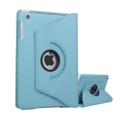 Icon Style Premium 360 Degree rotation Light Blue Horizontal & Vertical View Leather Cover For Apple iPad Mini by G4GADGET®