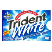 Trident White Gum, Peppermint, 12-Piece Packages