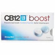 CB12 Boost Sugar Free Chewing Gum Strong Mint - 1 Pack of 10 pcs