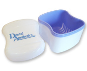 Denture Bath - Storage Container for Soaking Dentures, Retainers & other Dental Appliances